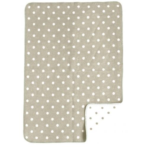 La Bebe™ Natural Eco Lambswool Baby blanket Natural Dots 75*100cm